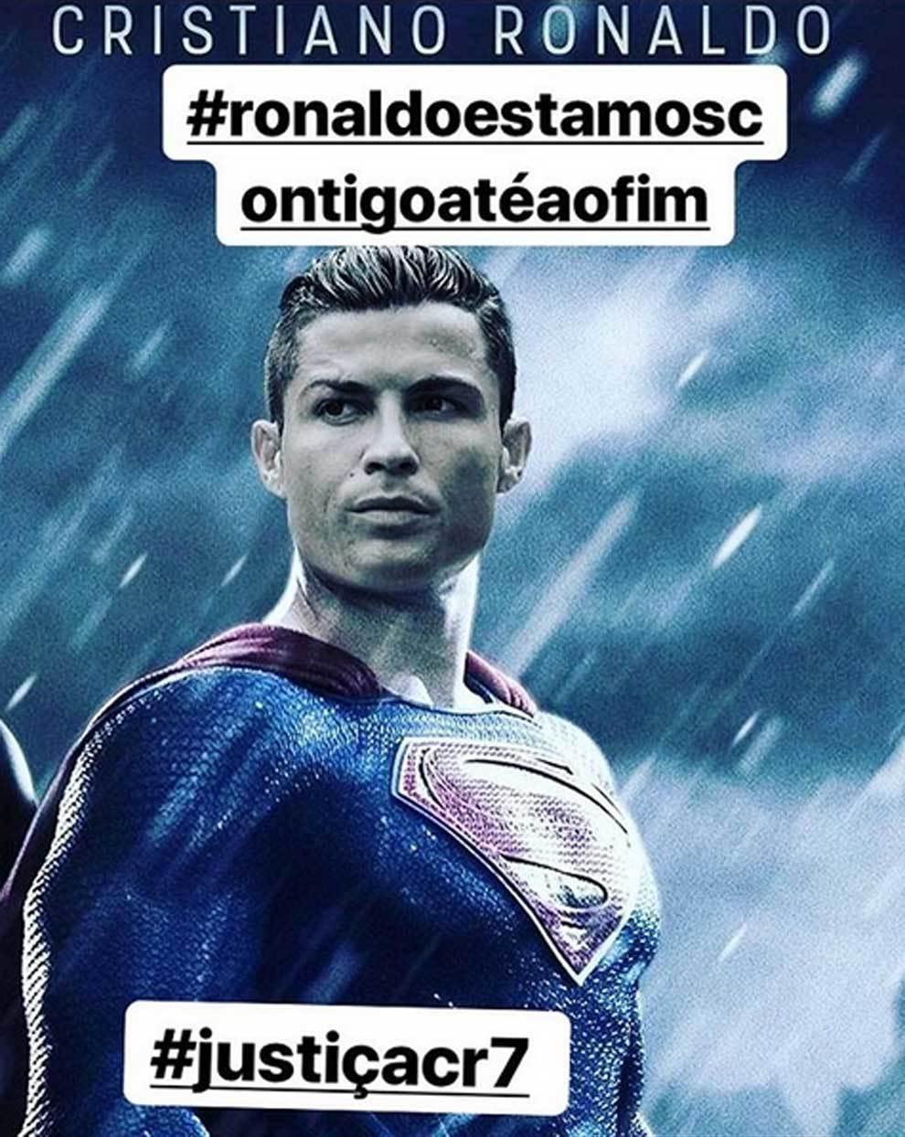 La imagen de Cristiano Ronaldo a lo Superman que Katia Aveiro quiere...