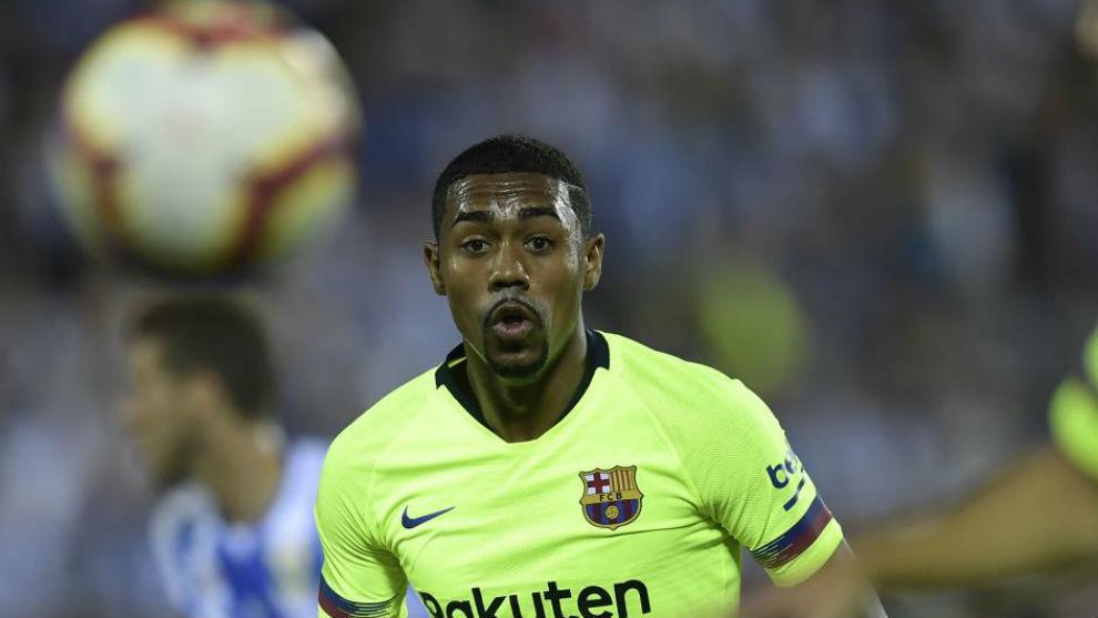 Malcom eyes the ball during th  match Leganes SAD against FC Barcelona...