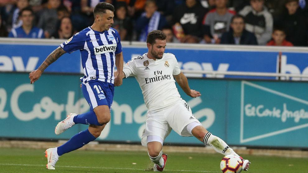 Nacho estuvo presente en la derrota del Real Madrid contra el Alavés.
