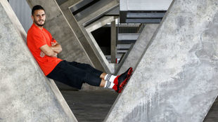 Koke posa para MARCA durante un anuncio de Adidas