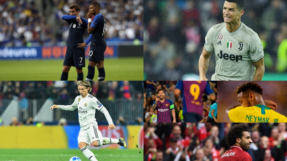 Modric, Griezmann, Mbappe, Ronaldo, Messi, Salah y Neymar, nominados...