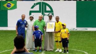 Romario, durante su concurso en el torneo amistoso de Kuwait.