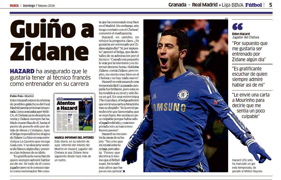 Real Madrid  Las cinco mejores declaraciones de amor de Eden Hazard ... 044a5b30e3601