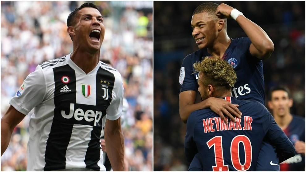 Cristiano Ronaldo and Mbappe &Neymar