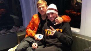 Kokorin y Mamaev, juntos en una imagen de Instagram.