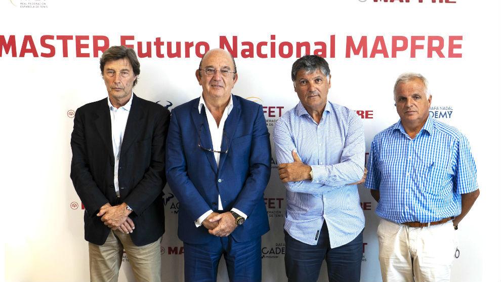 Javier Soler, Miguel Díaz, Toni Nadal y Antoni Ferragut