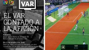 Charla sobre el VAR a los aficionados del Real Valladolid.