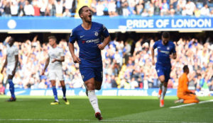 Eden Hazard, celebrando uno de sus últimos goles con el Chelsea.