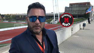 Antonio Mohamed, en la Ciudad del Fútbol de Las Rozas.