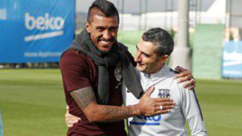 Paulinho embraces Valverde