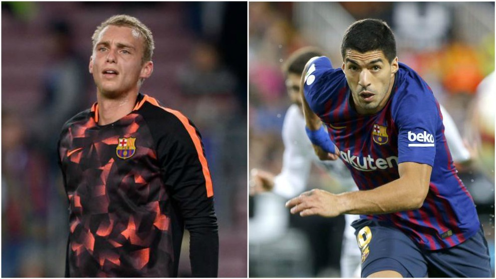 Cillessen and Luis Suarez