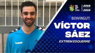 Cartel del fichaje de Víctor Sáez