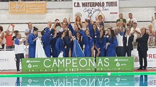 La plantilla del Sabadell, ganadora de la Supercopa de España.
