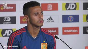 Thiago Alcantara en rueda de prensa.