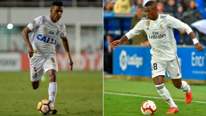 Rodrygo Goes and Vinicius Junior.
