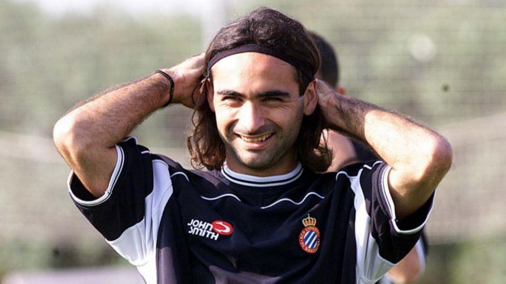 Martín Posse durante un entrenamiento con el Espanyol
