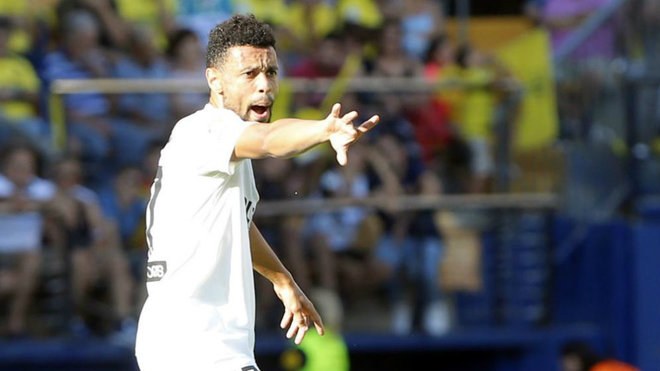 Coquelin, durante el partido ante el Villarreal.