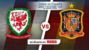 Horario y dónde ver el amistoso Gales - España de hoy jueves 11 de...