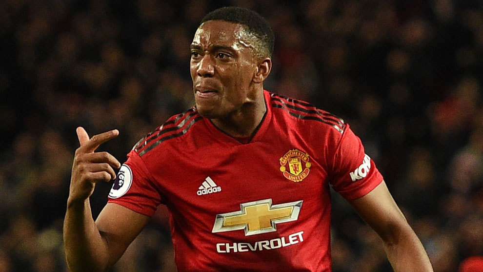 Anthony Martial celebra su gol ante el Newcastle.