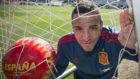 Rodrigo, en la Ciudad del Fútbol de Las Rozas