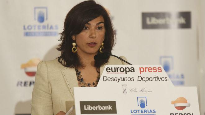 María José Rienda, ante la prensa