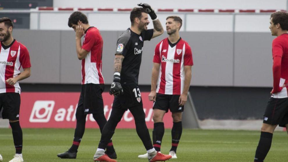 Herrerín regresó al equipo después de superar la lesión muscular...