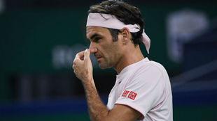 Federer se toca la nariz