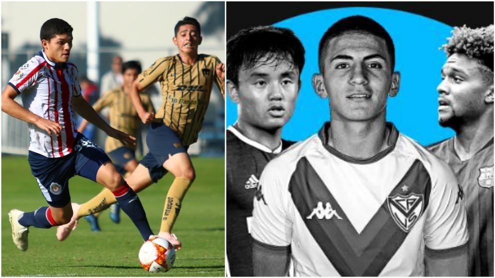 Sebastián Martínez (izquierda); tres de los talentos de la lista...