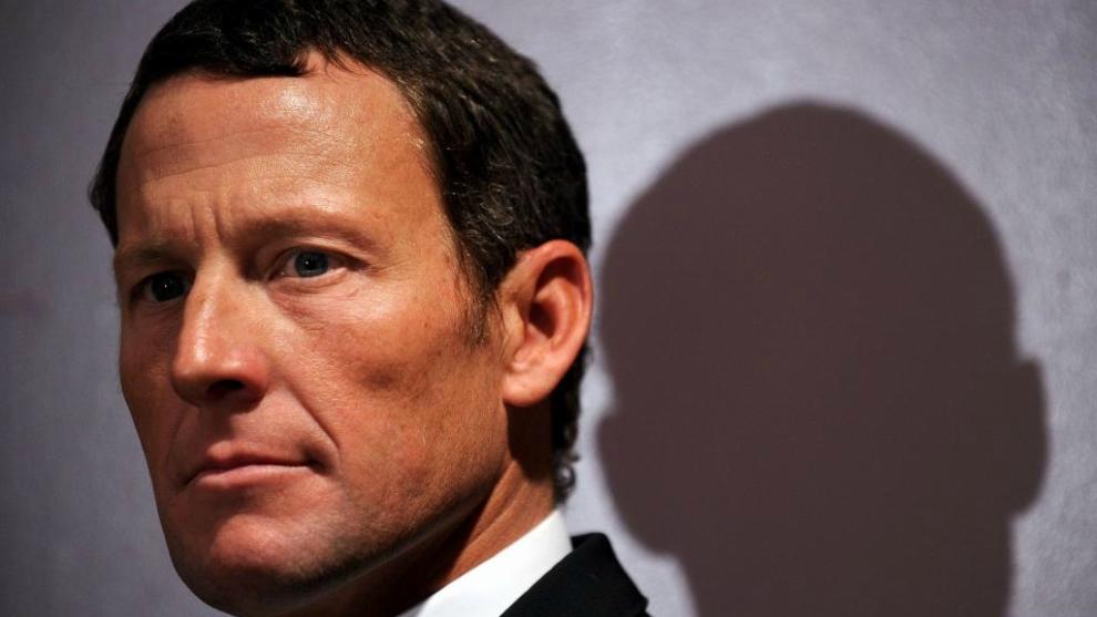 Lance Armstrong, durante una conferencia de prensa en 2011.
