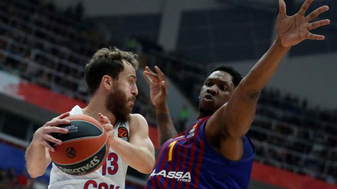 El CSKA de Sergio Rodríguez se pasea ante el Barcelona en el estreno de la Euroliga