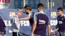 Barcelona's final session before a four day break