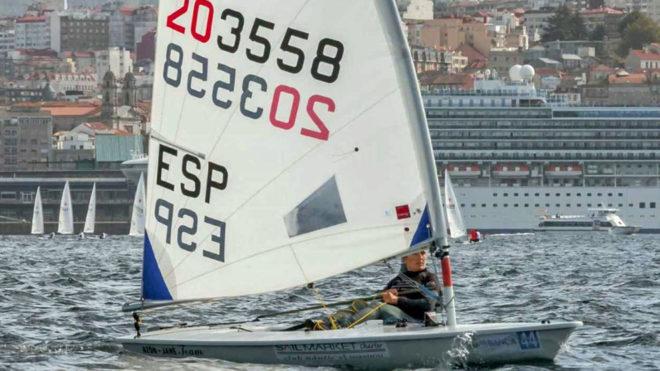 Mónica Azón, en el último día de regatas del Campeonato de Europa...