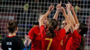 Las jugadoras dedican un gol a los afectados por la tragedia de...
