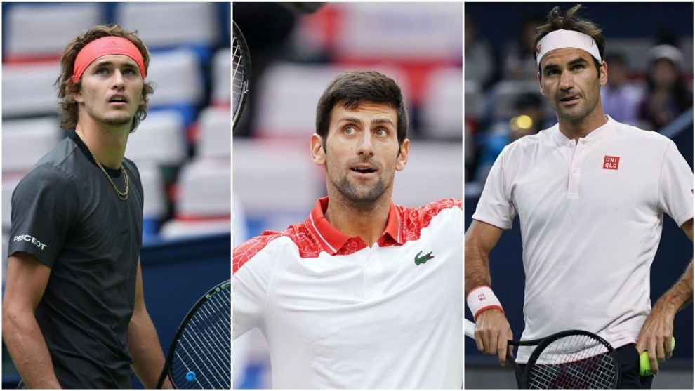 Zverev, Djokovic y Federer