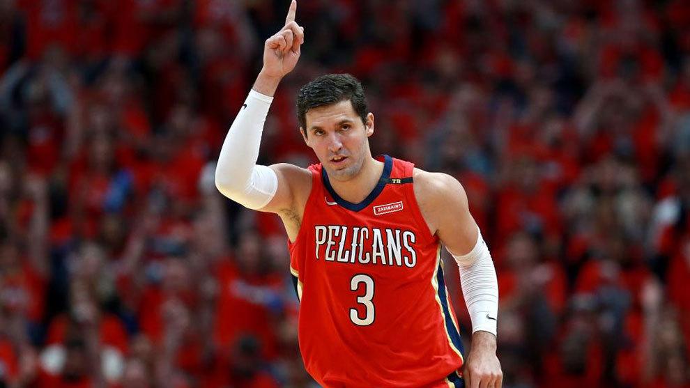 Nikola Mirotic, durante un partido con los Pelicans de Nueva Orleans.