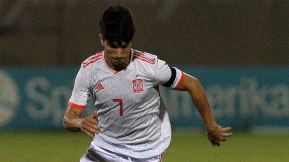 Carlos Soler, en el partido contra el Albania esta semana.