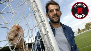 Víctor Sánchez posa para MARCA en la Ciudad Deportiva.