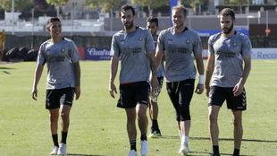 Entrenamiento del Real Valladolid.