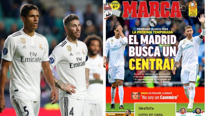 Tras Giménez, Lucas y... Umtiti, el Real Madrid busca central para la próxima temporada