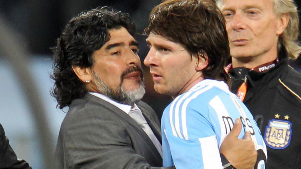 Maradona claims Messi 'goes to the bathroom 20 times before a game'
