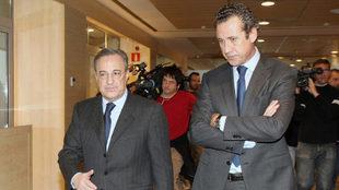 Florentino Perez and Jorge Valdano