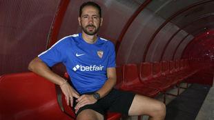 Pablo Machín posa para una entrevista con MARCA.