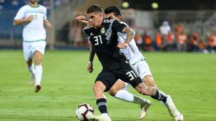 De Paul, el pasado jueves en el amistoso de Argentina contra Irak.