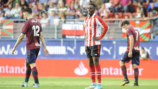 Iñaki Williams durante el partido del Athletic en Ipurua la pasada...