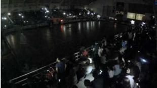 Imagen del apagón durante la final del Mundial