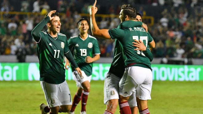 La selección mexicana celebra su triunfo en Nuevo León