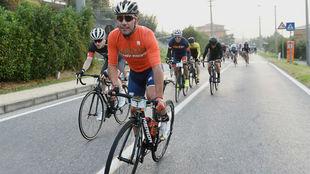 Purito Rodríguez, este domingo en el Gran Fondo Il Lombardia.
