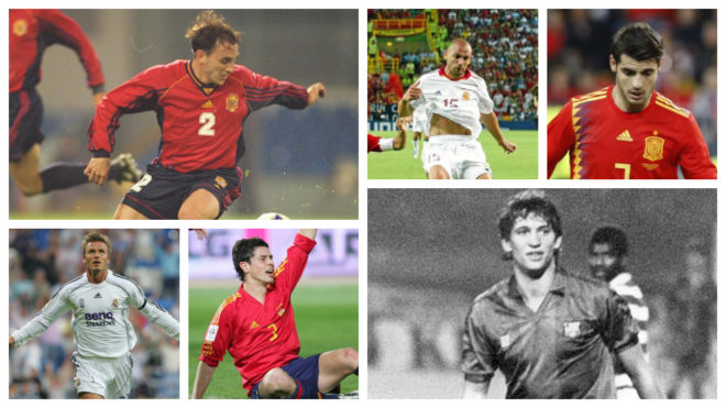 Which 35 Spanish players have played in the Premier League?