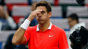 Del Potro, en el torneo Masters 1000 de Shanghai.