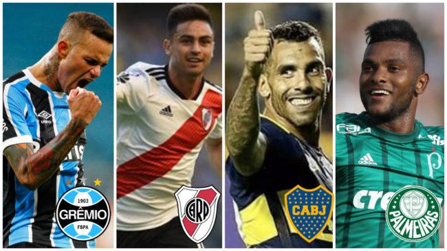 Las estrellas de Gremio, River, Boca y Palmeiras: Luan, 'Pity'...